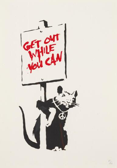 BANKSY   GET OUT WHILE YOU CAN