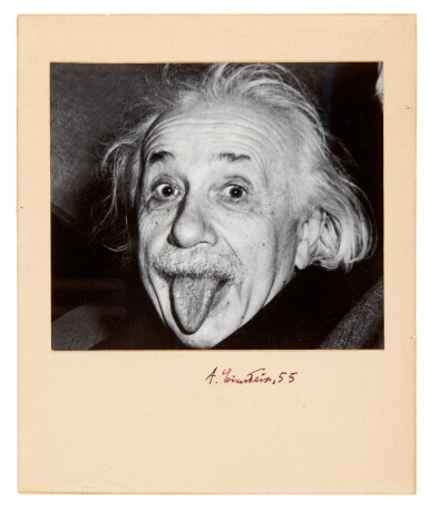 View 1. Thumbnail of Lot 29. EINSTEIN | Signed photograph, 1955.