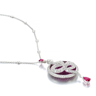 GRAFF | RUBY AND DIAMOND PENDENT NECKLACE