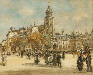 View 1. Thumbnail of Lot 40. Place de Saint-Germain des Prés, Paris.