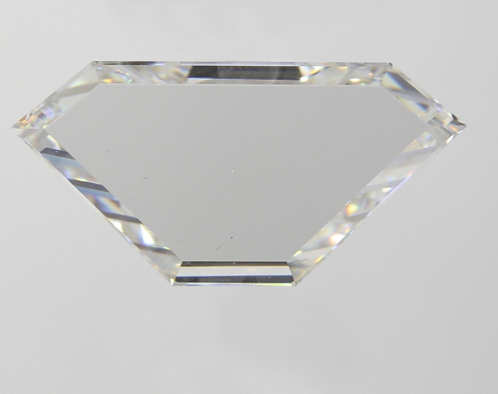 A 2.02 Modified Shield Step-Cut Diamond, I Color, VS1 Clarity
