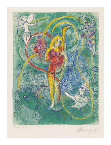 View 1. Thumbnail of Lot 21. MARC CHAGALL   THE CIRCUS: ONE PLATE (M. 492; SEE C. BKS. 68).