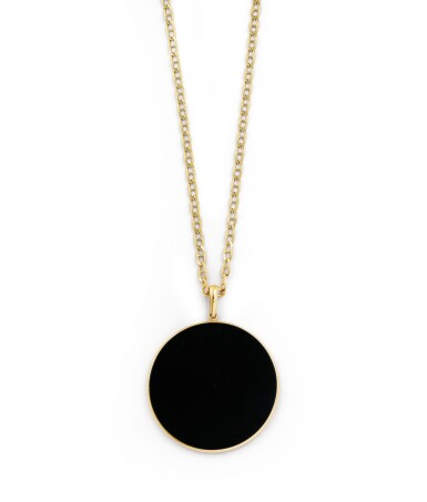 View 3. Thumbnail of Lot 132. Onyx pendant [Pendentif onyx].