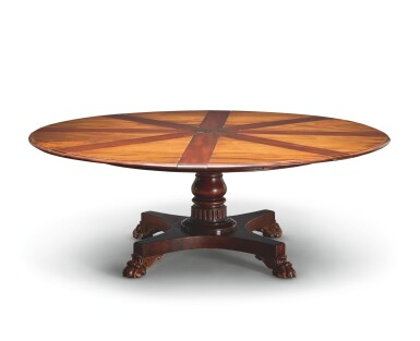 AN EARLY VICTORIAN MAHOGANY EXPANDING DINING TABLE BY JOHNSTONE & JEANES, MID-19TH CENTURY