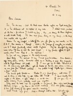 LAWRENCE | Autograph letter signed, to B.E. Leeson, on his discomfort with his Arab experiences, 16 February 1923