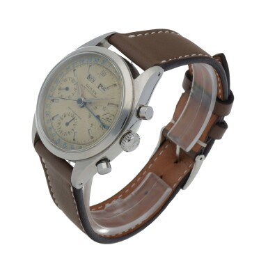 View 2. Thumbnail of Lot 18. 'JEAN-CLAUDE KILLY' DATO-COMPAX, REF 6236 STAINLESS STEEL TRIPLE CALENDAR CHRONOGRAPH WRISTWATCH CIRCA 1958 [勞力士6236型號「'JEAN-CLAUDE KILLY' DATO-COMPAX」精鋼全日曆計時腕錶,年份約1958].