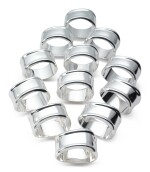A SET OF TWELVE SILVER NAPKIN RINGS, DESIGNED BY ELSA PERETTI FOR TIFFANY & CO., NEW YORK, LATE 20TH CENTURY