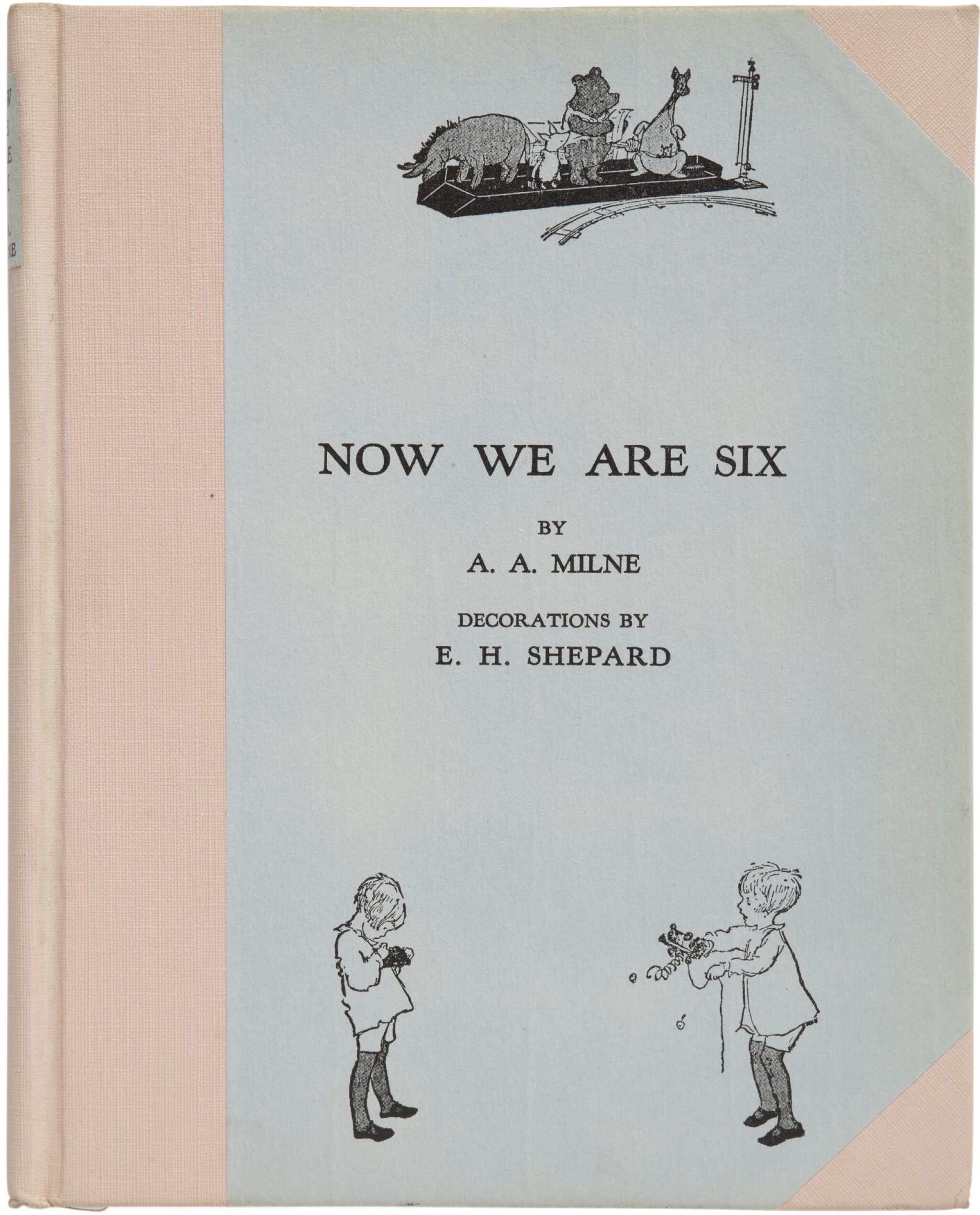View full screen - View 1 of Lot 165. MILNE, A. A.   Now We Are Six. New York: E. P. Dutton, (1927).