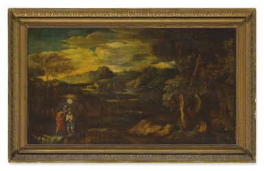 View 2. Thumbnail of Lot 51.  FOLLOWER OF SALVATOR ROSA | AN ARCADIAN LANDSCAPE WITH THE BAPTISM OF CHRIST.
