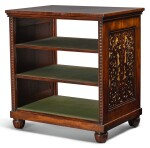 A VICTORIAN MAHOGANY DOUBLE-SIDED LIBRARY FOLIO STAND, CIRCA 1850