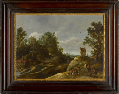 View 2. Thumbnail of Lot 151. A landscape with peasants resting by a watermill.