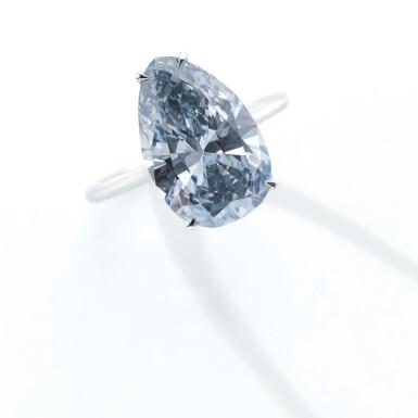 View 2. Thumbnail of Lot 331.  IMPORTANT FANCY GREY-BLUE DIAMOND RING.