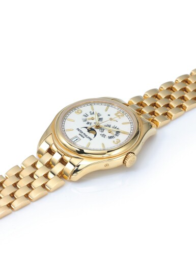 View 2. Thumbnail of Lot 152. PATEK PHILIPPE   REF 5146/1J, A YELLOW GOLD AUTOMATIC ANNUAL CALENDAR WRISTWATCH WITH MOON PHASES AND POWER RESERVE INDICATION MADE IN 2008.