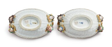 View 3. Thumbnail of Lot 297. A PAIR OF MEISSEN OVAL SMALL BASKETS, CIRCA 1735.