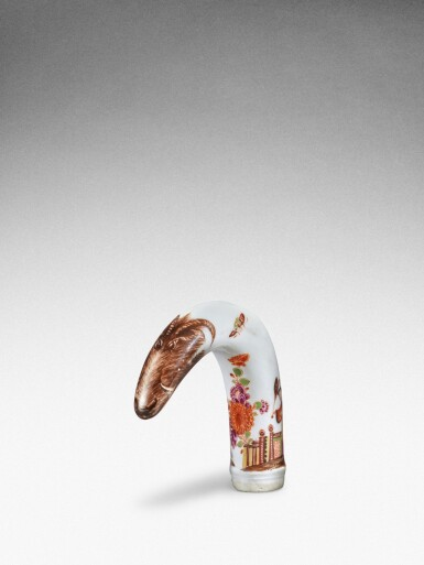 View 2. Thumbnail of Lot 88. A Meissen horn-shaped cane handle, Circa 1735.