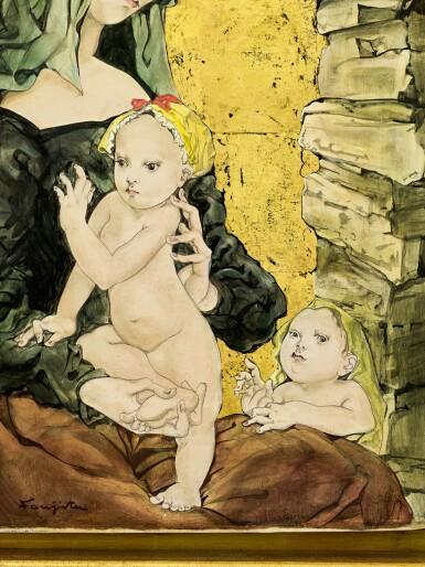 View 3. Thumbnail of Lot 1037. Léonard Tsuguharu Foujita 藤田嗣治 | Maternité 聖母子像.