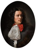 FOLLOWER OF CAREL WAUTIER | A portrait of a gentleman, bust-length, with a white cravat
