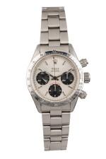 ROLEX | Daytona, Ref 6265 A Stainless Steel Chronograph Wristwatch with Bracelet 1979