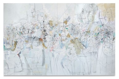 View 1. Thumbnail of Lot 27. GEORGE CONDO | TRANSPARENT FIGURES.