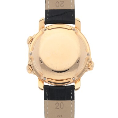 View 4. Thumbnail of Lot 656.  JAEGER-LECOULTRE    GRAND REVÉIL, REF 180.2.99   LIMITED EDITION PINK GOLD PERPETUAL CALENDAR WRISTWATCH WITH ALARM, MOON PHASES, 24-HOUR AND YEAR INDICATION   CIRCA 1995.