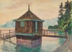 ALEXANDER NIKOLAEVICH BENOIS | BathingCabin on Lake Lucerne