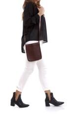 Dark brown leather and palladium hardware, Clou de Selle, Hermès