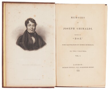 [Dickens], Memoirs of Joseph Grimaldi, 1838, first edition