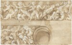 Design for a frieze with putti