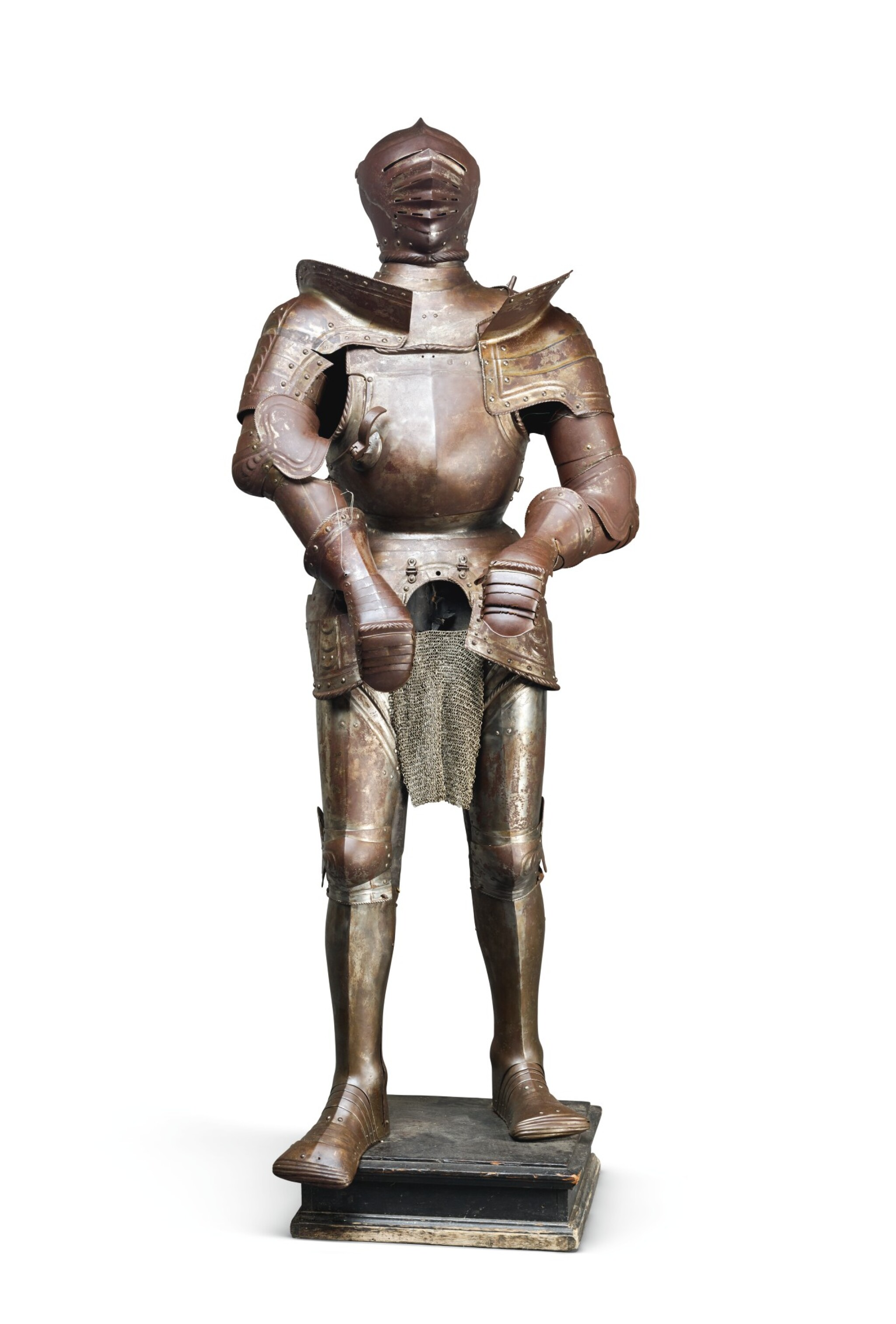 A GERMAN FULL ARMOUR IN THE INNSBRUCK STYLE OF 1540, 19TH CENTURY, PROBABLY NUREMBURG