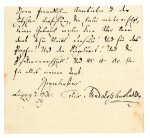 F. Mendelssohn. Unpublished autograph letter to his publisher Friedrich Kistner, Leipzig, 18 December 1839