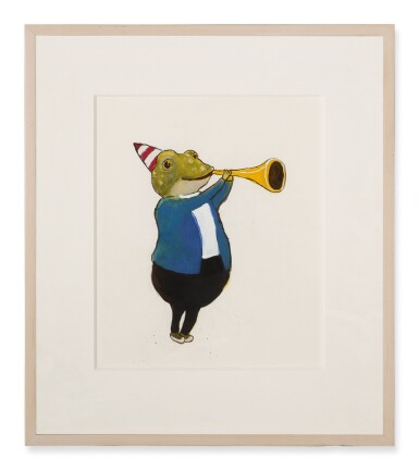 View 2. Thumbnail of Lot 1534. DONALD SAAF   FROG WITH TRUMPET.
