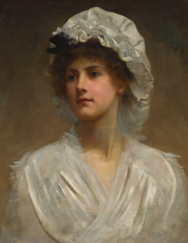 View 1. Thumbnail of Lot 26. PHILIP HERMOGENES CALDERON, R.A. | PORTRAIT OF A YOUNG WOMAN.