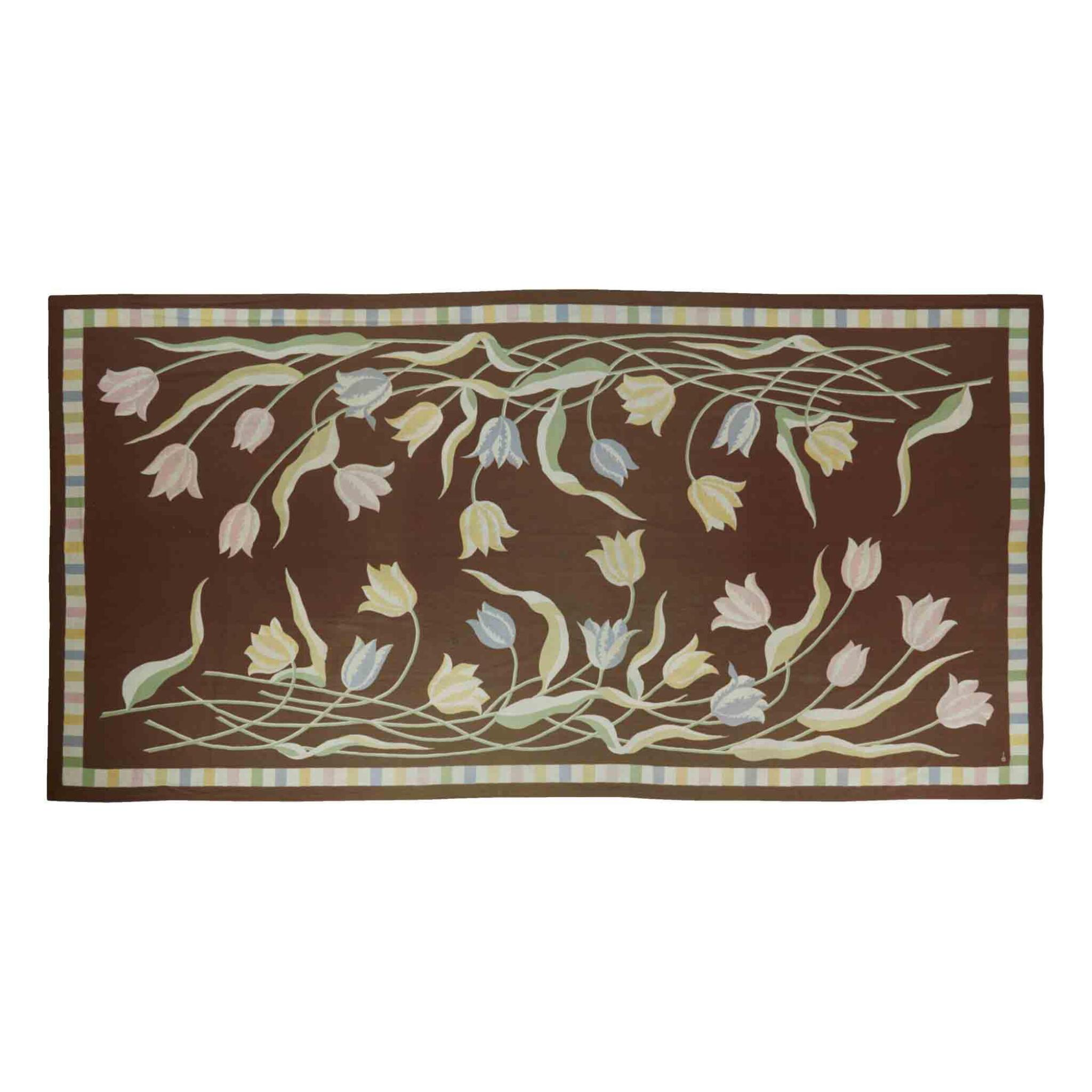 """View full screen - View 1 of Lot 53. """"Tulipes"""" Rug."""