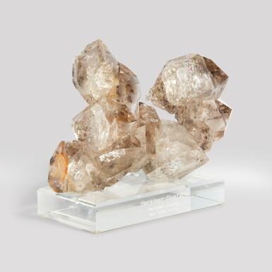 A Fine Smoky Quartz var 'Herkimer Diamond'
