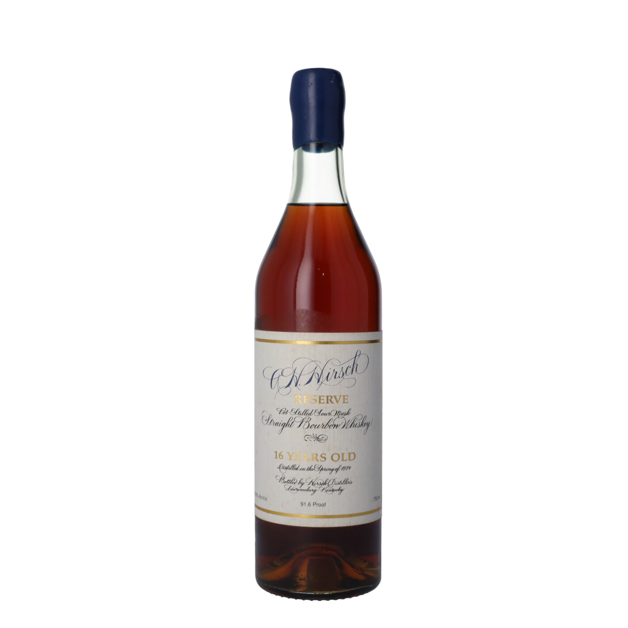 View full screen - View 1 of Lot 156. A.H. Hirsch Reserve 16 Year Old 45.8 abv 1974 (1 BT75).