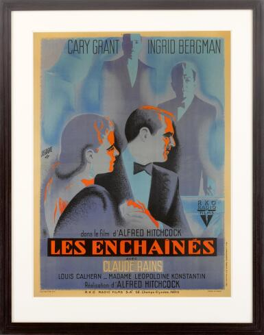View 2. Thumbnail of Lot 68. NOTORIOUS / LES ENCHAINES (1946) POSTER, FRENCH.