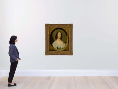 View 4. Thumbnail of Lot 632. Portrait of a lady, bust length, in a painted oval.