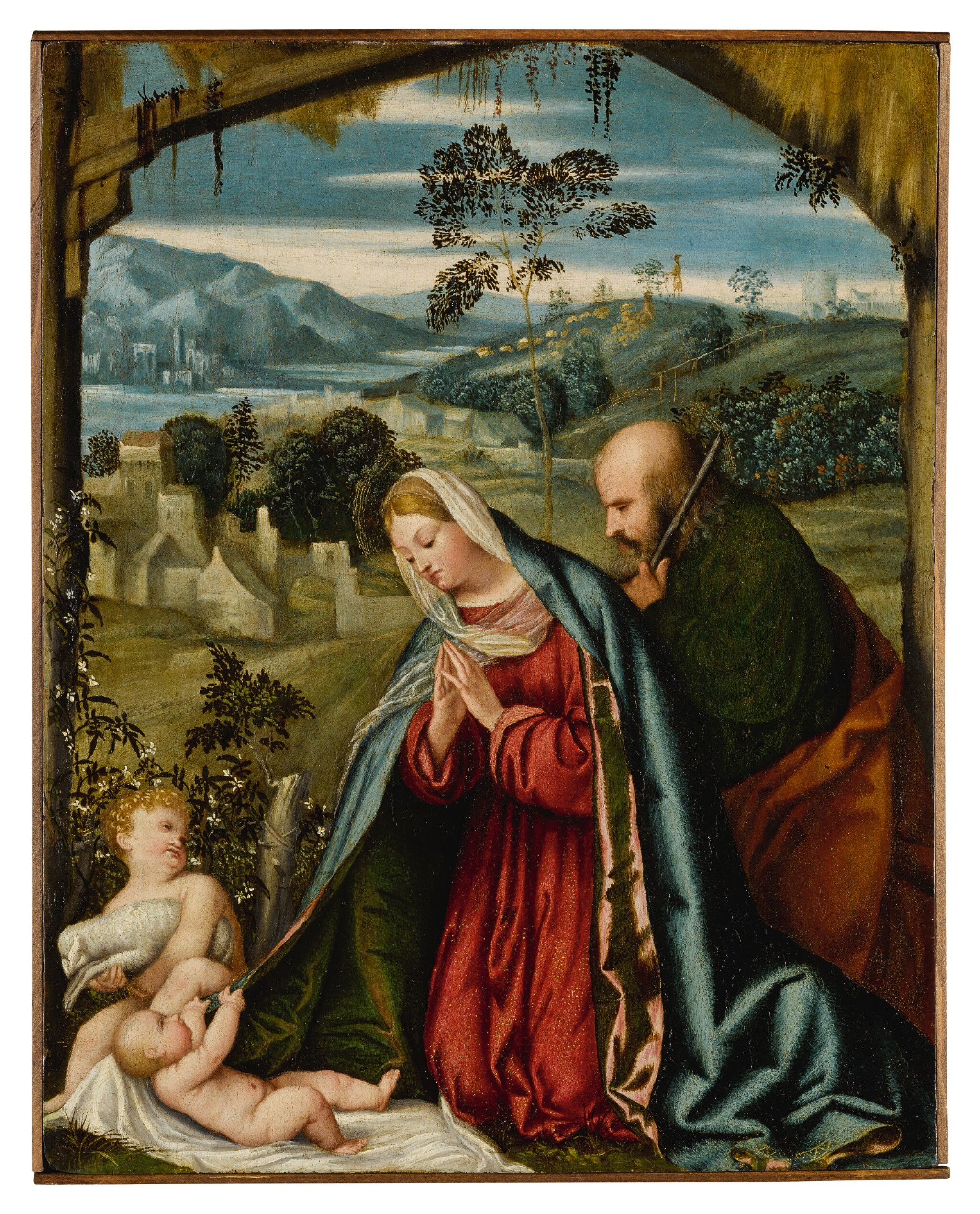 View full screen - View 1 of Lot 513. The Holy Family in a landscape.
