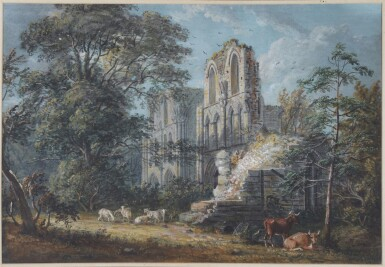 PAUL SANDBY, R.A. | Roche Abbey, Yorkshire
