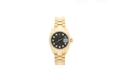 ROLEX | REFERENCE 179178 DATEJUST  A YELLOW GOLD AUTOMATIC WRISTWATCH WITH DATE, DIAMOND-SET INDEXES AND BRACELET, CIRCA 2005