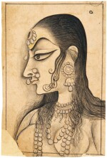 A PORTRAIT OF A LADY, INDIA, KISHANGARH, CIRCA 1790