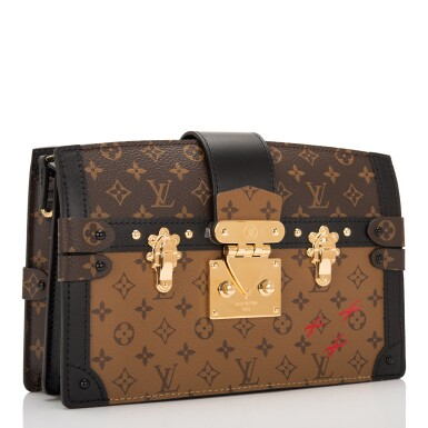 View 2. Thumbnail of Lot 115. Louis Vuitton Trunk Clutch of Reverse Monogram Canvas with Polished Brass Hardware .