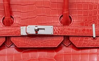 View 7. Thumbnail of Lot 308. Bougainvillier Birkin 35cm in Porosus Crocodile with Palladium Hardware, 2012.