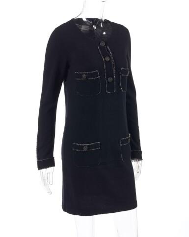 View 2. Thumbnail of Lot 174. Black cashmere mini dress.
