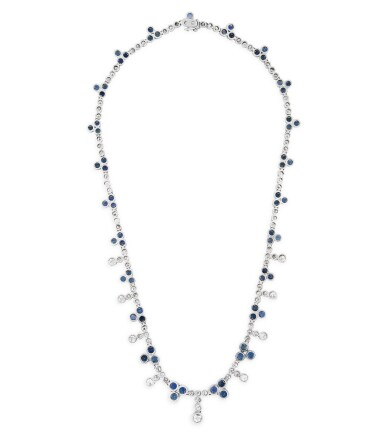 COLLIER SAPHIRS ET DIAMANTS | SAPPHIRE AND DIAMOND NECKLACE