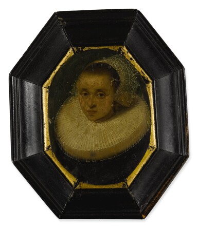 View 4. Thumbnail of Lot 54. Sold Without Reserve | AMSTERDAM SCHOOL, CIRCA 1630 | PORTRAIT OF A GENTLEMAN, BUST LENGTH, WEARING A RUFF; PORTRAIT OF A LADY, BUST LENGTH, WEARING A RUFFLED COLLAR AND WHITE LACE BONNET.