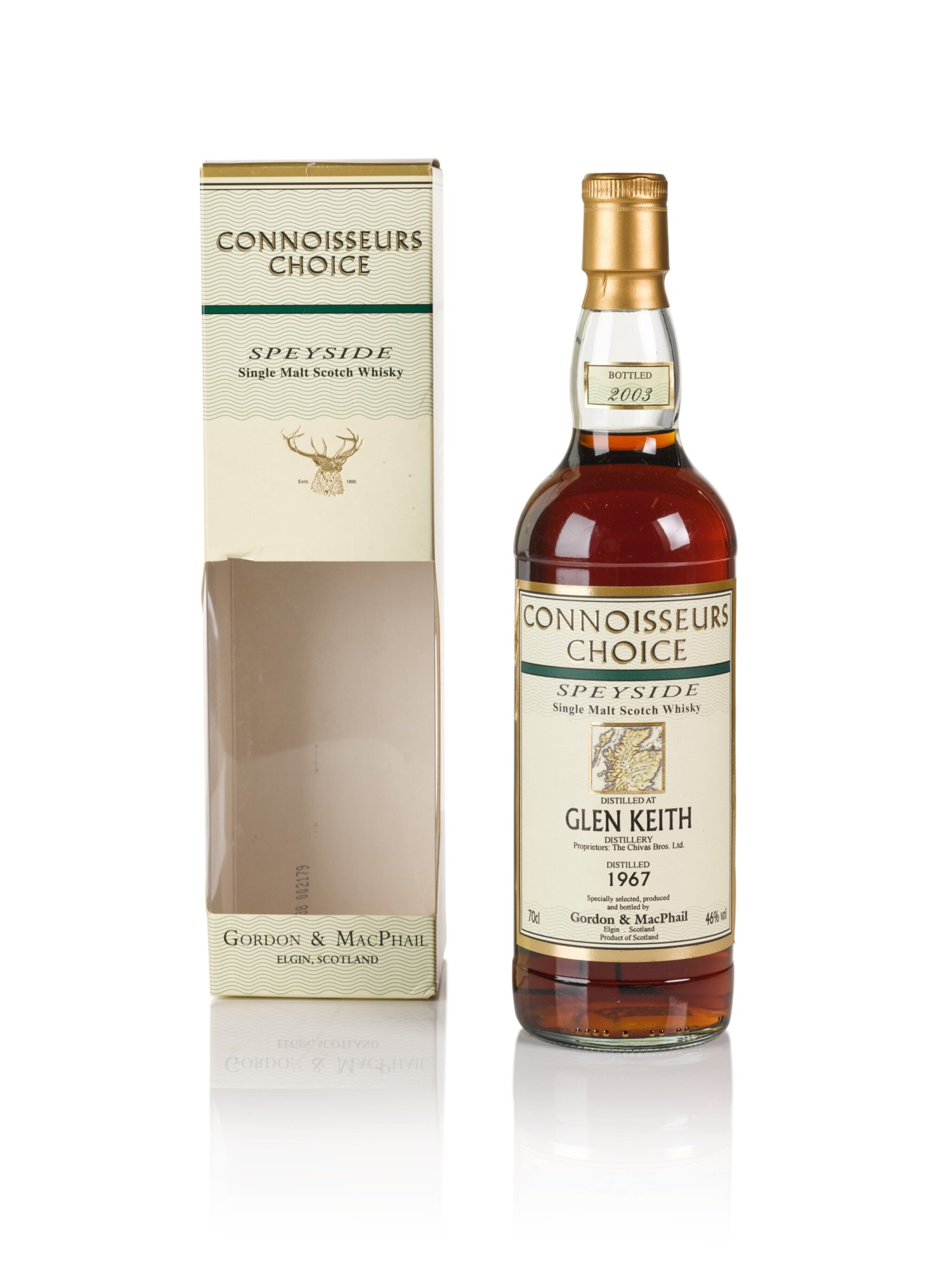 View full screen - View 1 of Lot 184. Glen Keith Gordon & MacPhail Connoisseurs Choice 46.0 abv 1967 .