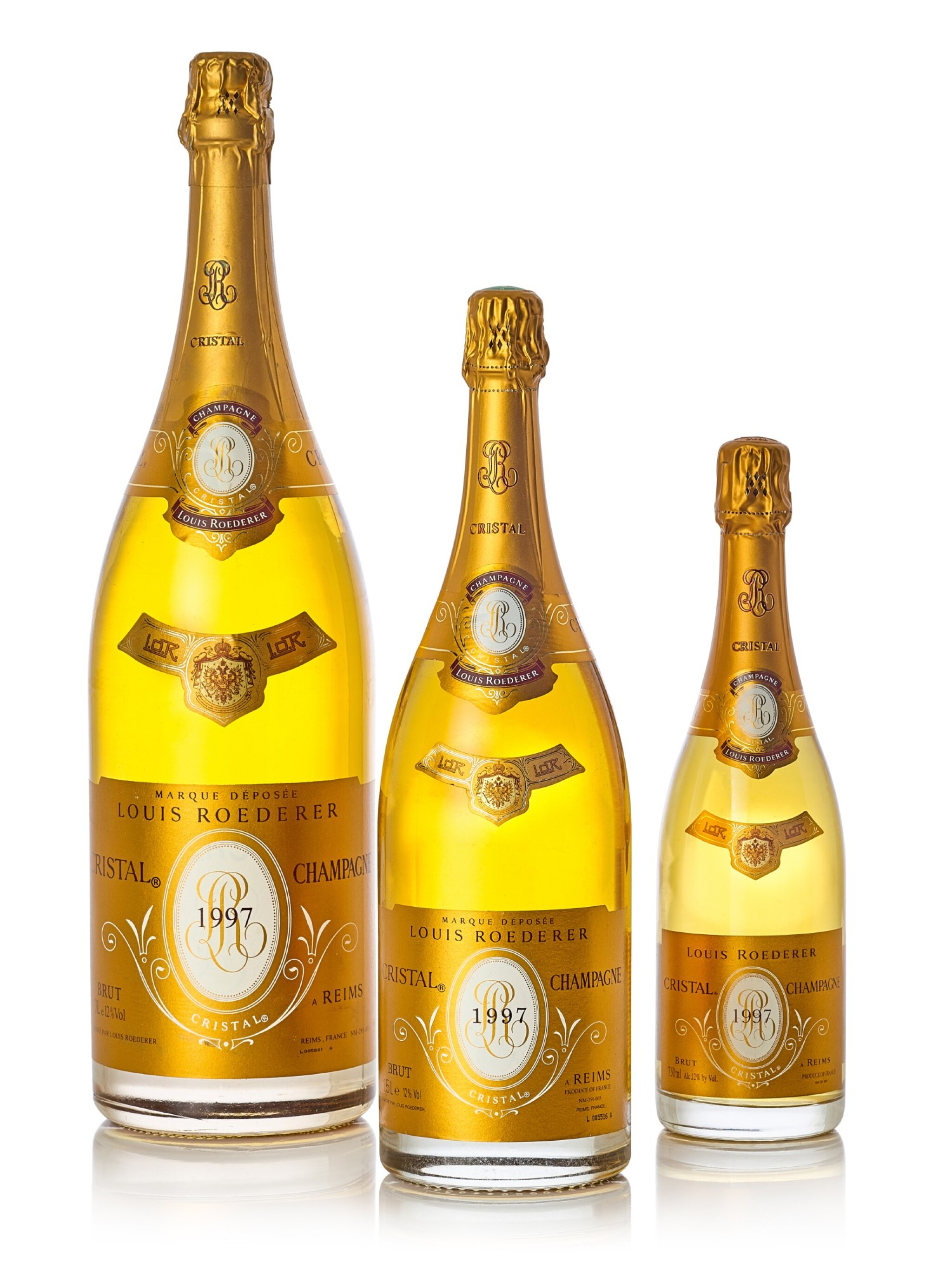 View full screen - View 1 of Lot 8148. Louis Roederer, Cristal Brut 1997  (3 BT).