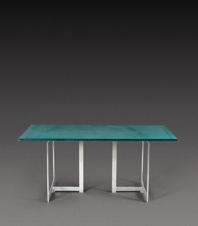View 2. Thumbnail of Lot 191. Extendable console table.