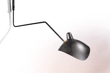 View 5. Thumbnail of Lot 28. Angled wall lamp, designed in 1954.